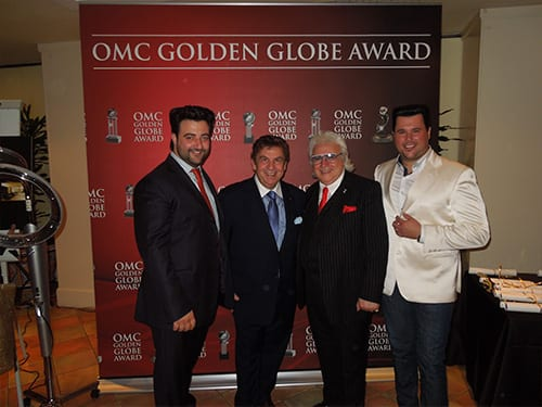 Bruno Frustaci, Salvatore Fodera (OMC World President) with Winning Models Michele & Marco - Gents Division